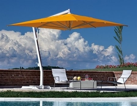 Cantilever Patio Umbrellas In Widely Used Fim P Series 11.5' Square Cantilever Patio Umbrella 11.5' X (View 3 of 15)
