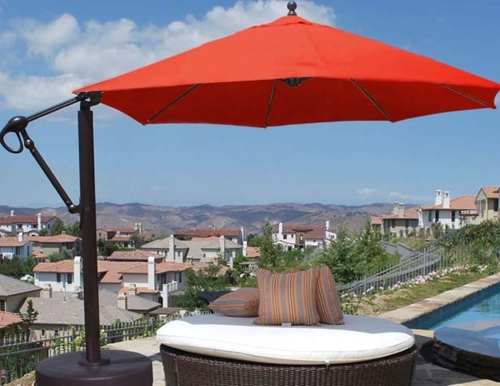 Cantilever Patio Umbrellas Lowes — Cookwithalocal Home And Space Pertaining To 2018 Lowes Offset Patio Umbrellas (View 2 of 15)