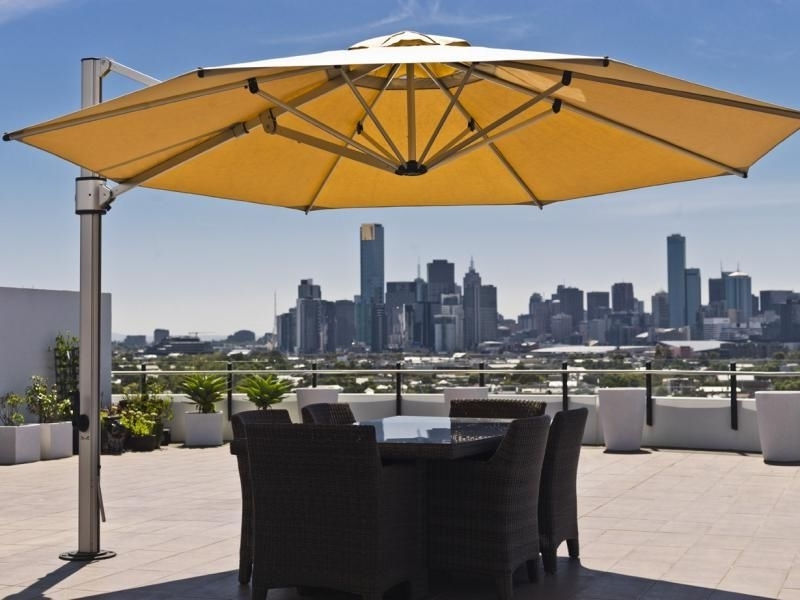 Cantilever Side Post Umbrellas: Perfect Pool & Spa Shade Solution Inside Well Known Eclipse Patio Umbrellas (View 9 of 15)