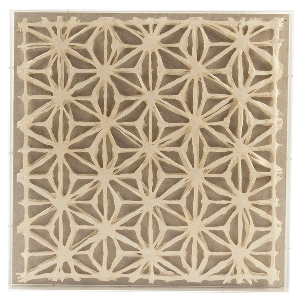 Cari Modern Classic Abstract Geometric Acrylic Framed Paper Wall Art Pertaining To Widely Used Paper Wall Art (View 3 of 15)