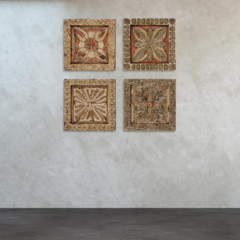 Carved Wood Wall Art Regarding Trendy Titan Lighting 16 In. X 16 In (View 2 of 15)