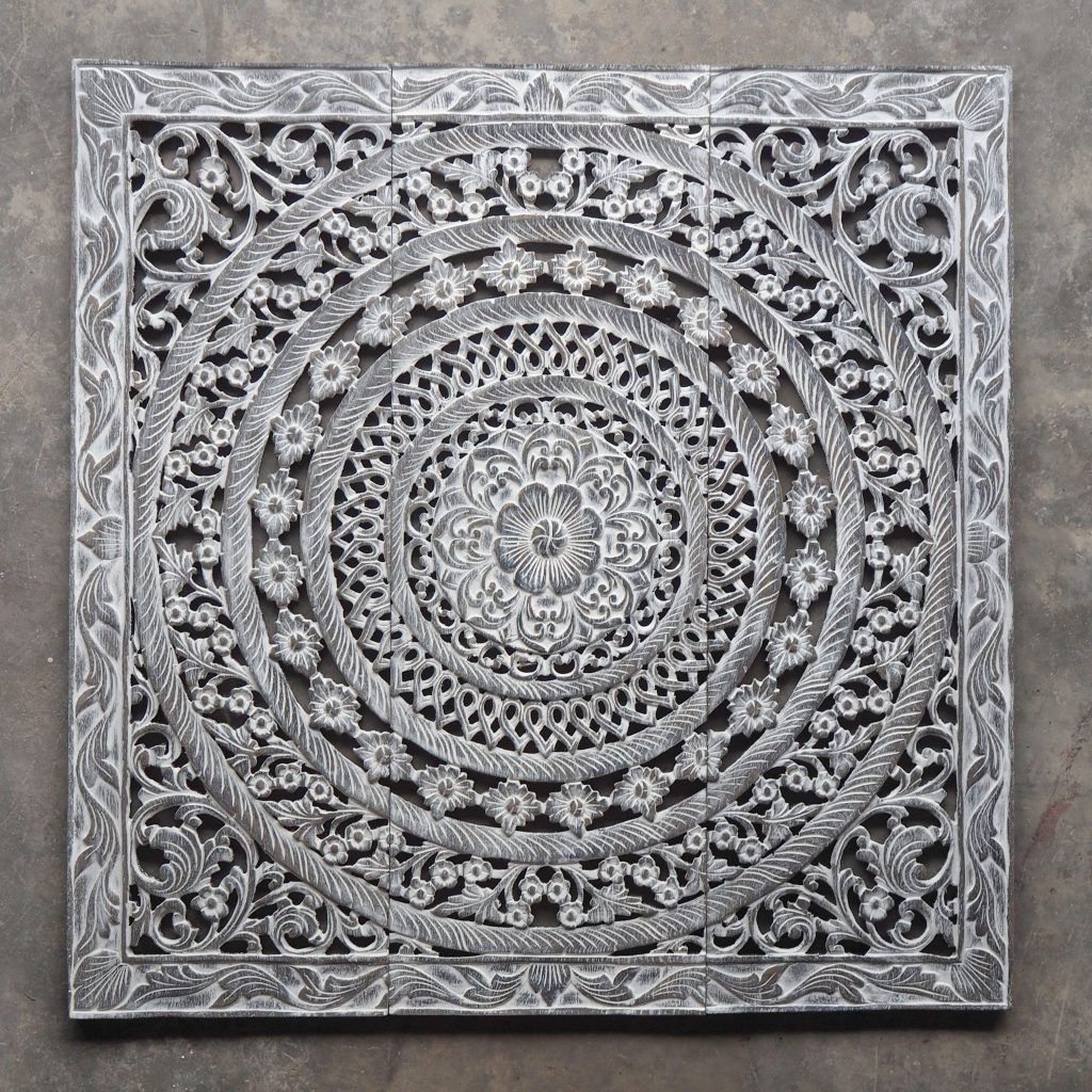 Carved Wood Wall Art With Regard To Latest White Carved Wood Wall Art Morrocan Design Carved Wood Wall Art (View 7 of 15)