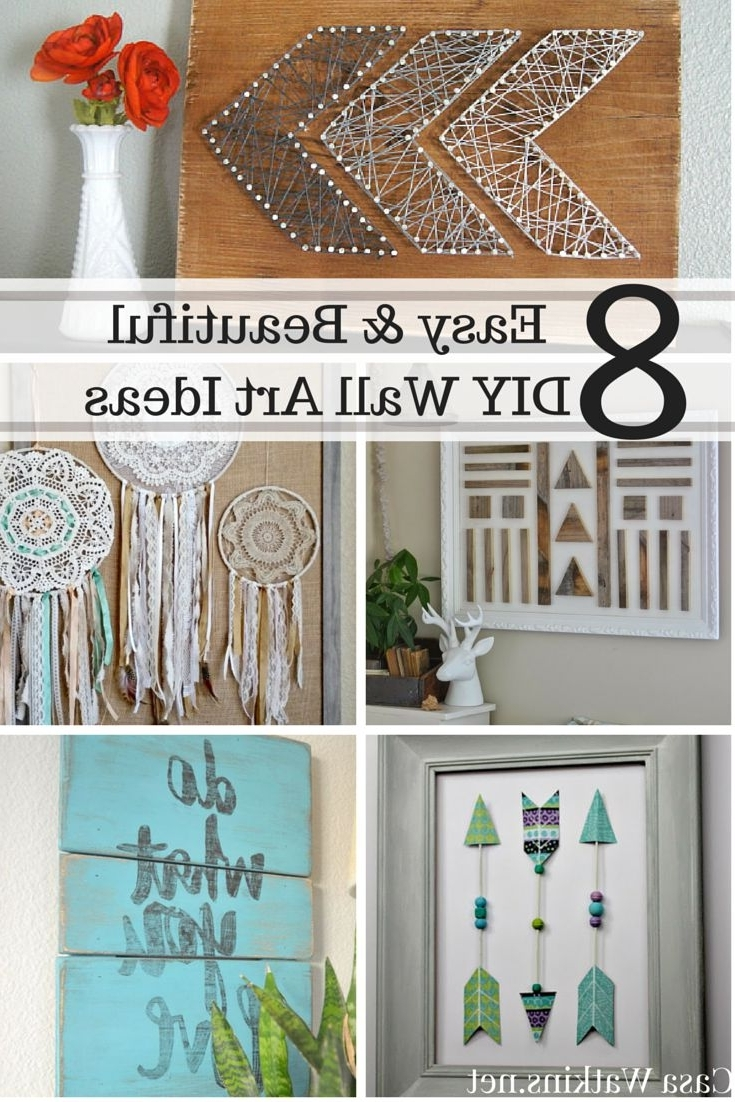 Casa Watkins: 8 Easy And Beautiful Diy Wall Art Ideas – Wall Diy Decor For Current Diy Wall Art Projects (View 4 of 15)