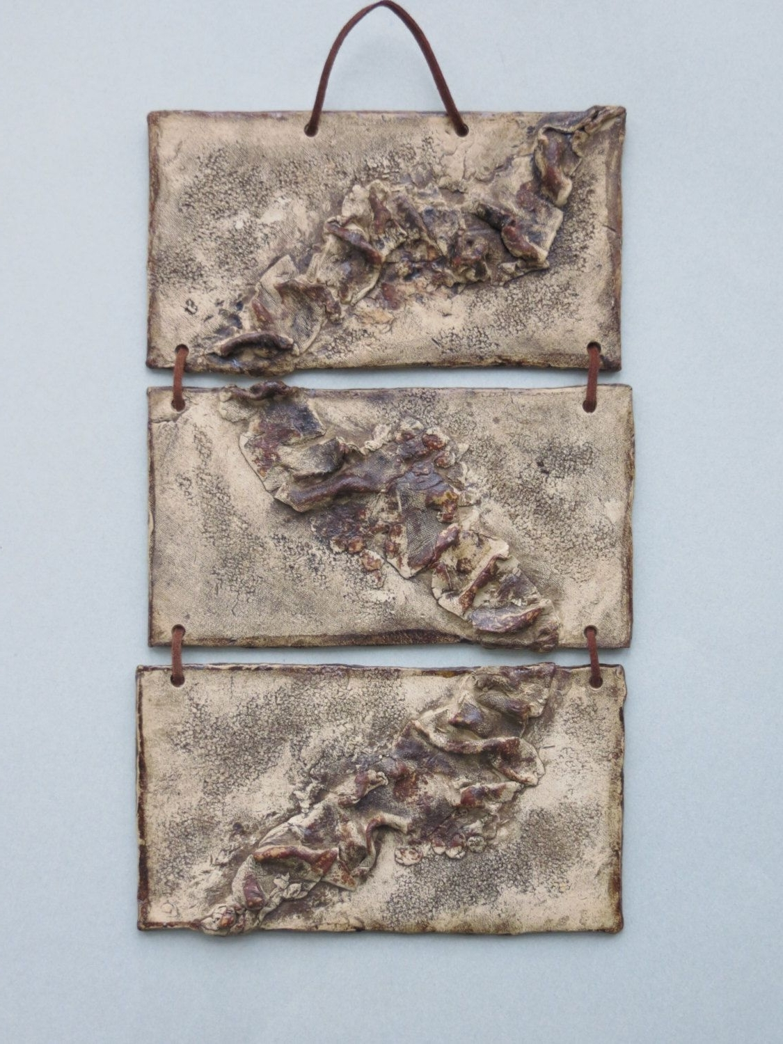 Ceramic Wall Art Intended For Most Popular Organic Abstract Ceramic Wall Hanging Earth Tone Clay Wall Art (View 9 of 15)