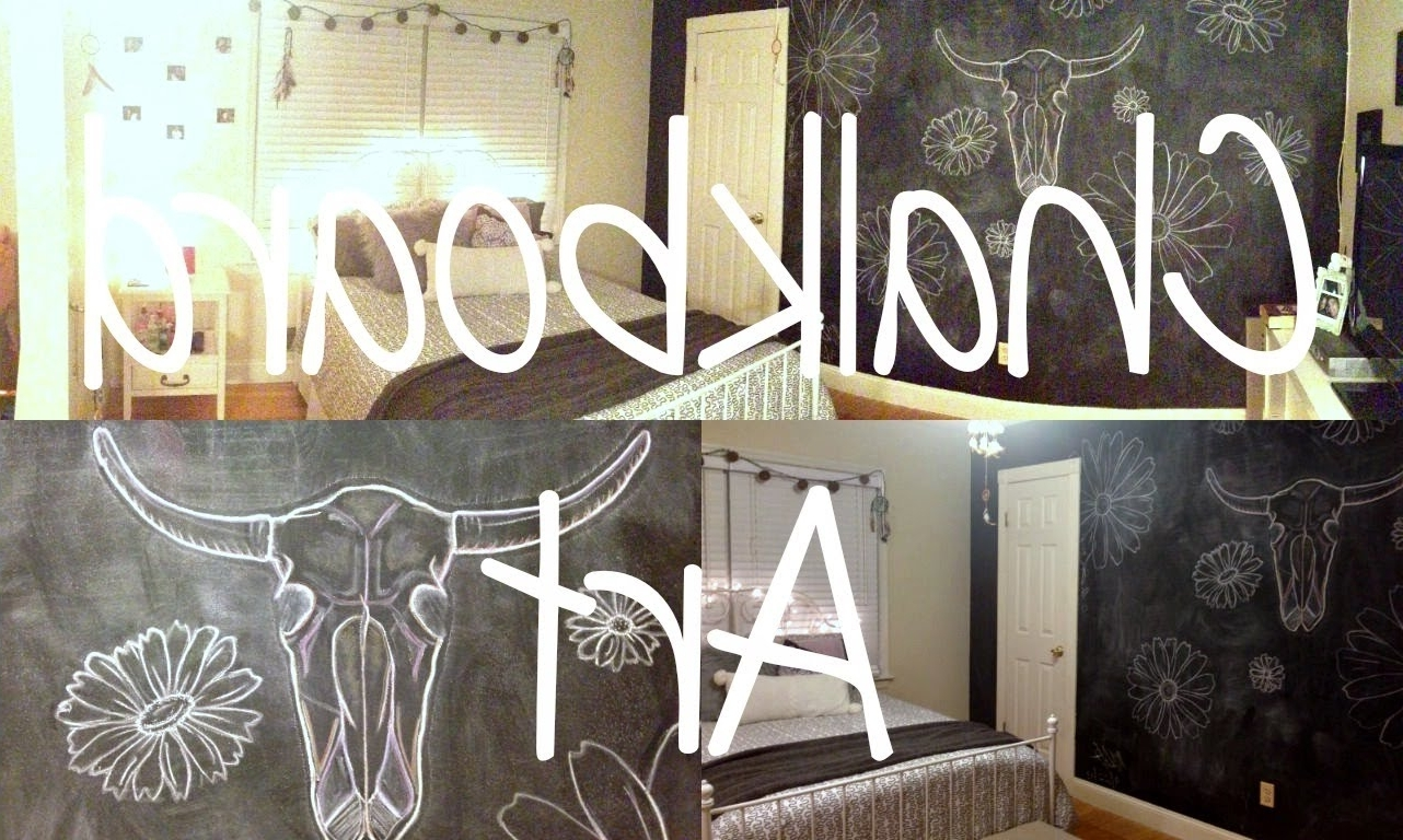 Chalkboard Wall Art With Current Chalkboard Wall Art/ Bedroom Decor – Youtube (View 3 of 15)