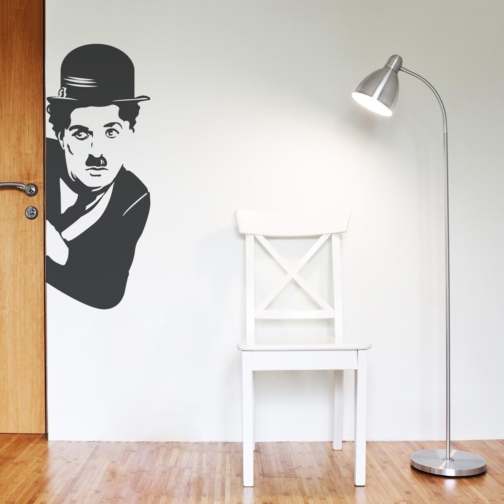 Charlie Chaplin Wall Art Decal Regarding Favorite Corner Wall Art (View 5 of 15)