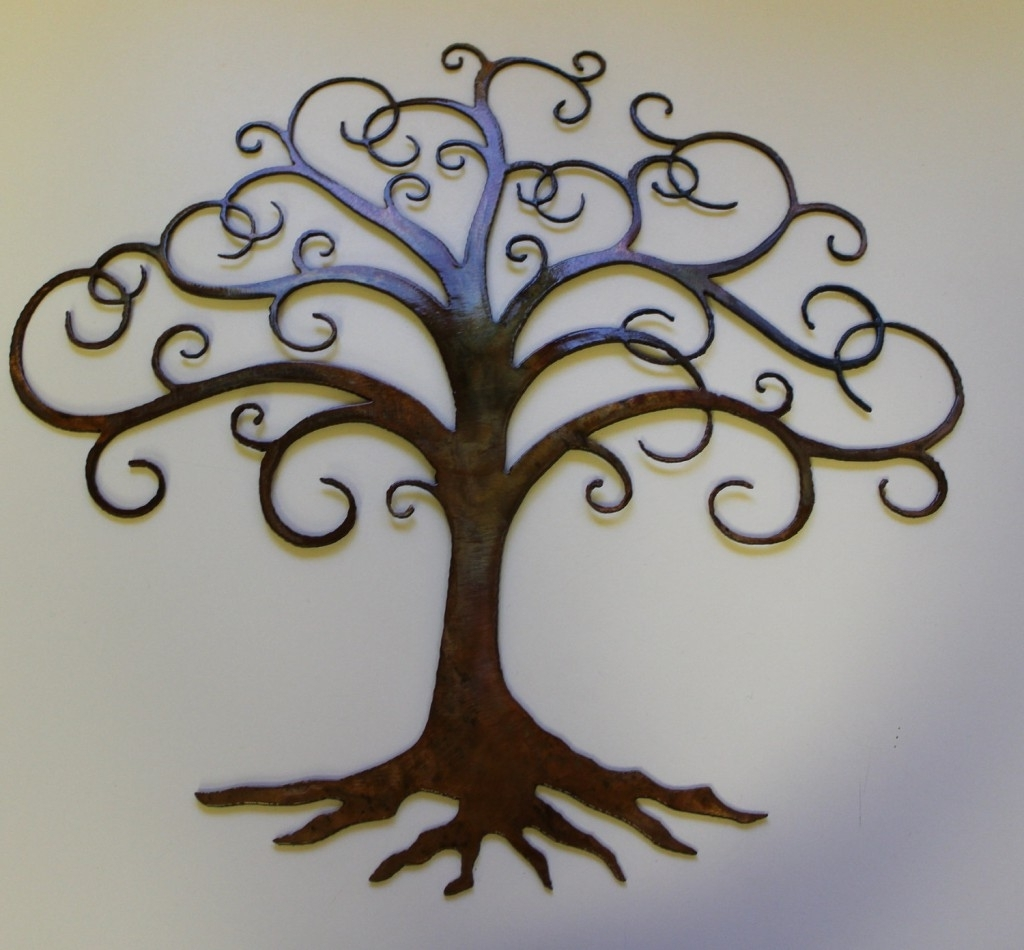 Charming Natural Tree Of Life Metal Wall Art Decor Sculpture 31 X 29 In Most Up To Date Metal Wall Art Trees (View 4 of 15)