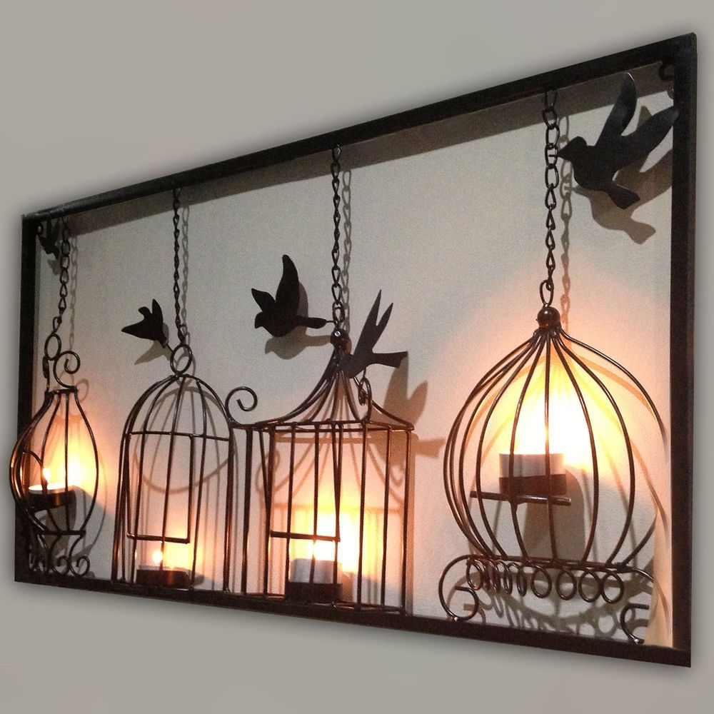 Cheap Metal Wall Art With Most Recent Tuscan Metal Wall Art Candle – Awesome House : Create Beautiful (View 5 of 15)