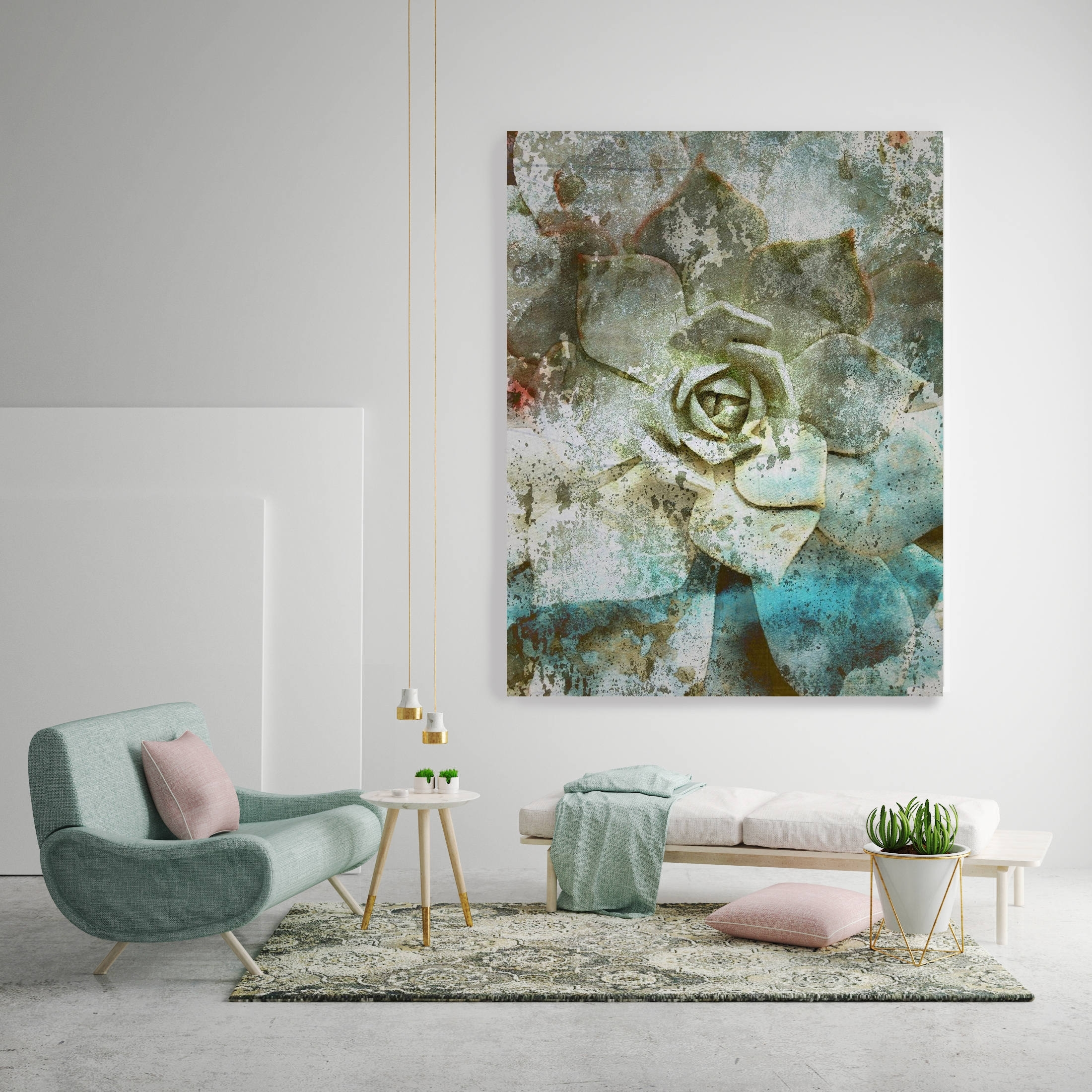Cheap Oversized Canvas Wall Art With Widely Used Sempervivum (View 4 of 15)
