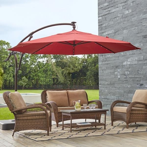 Cheap Patio Umbrellas Inside Fashionable Patio Umbrellas – The Home Depot (View 4 of 15)