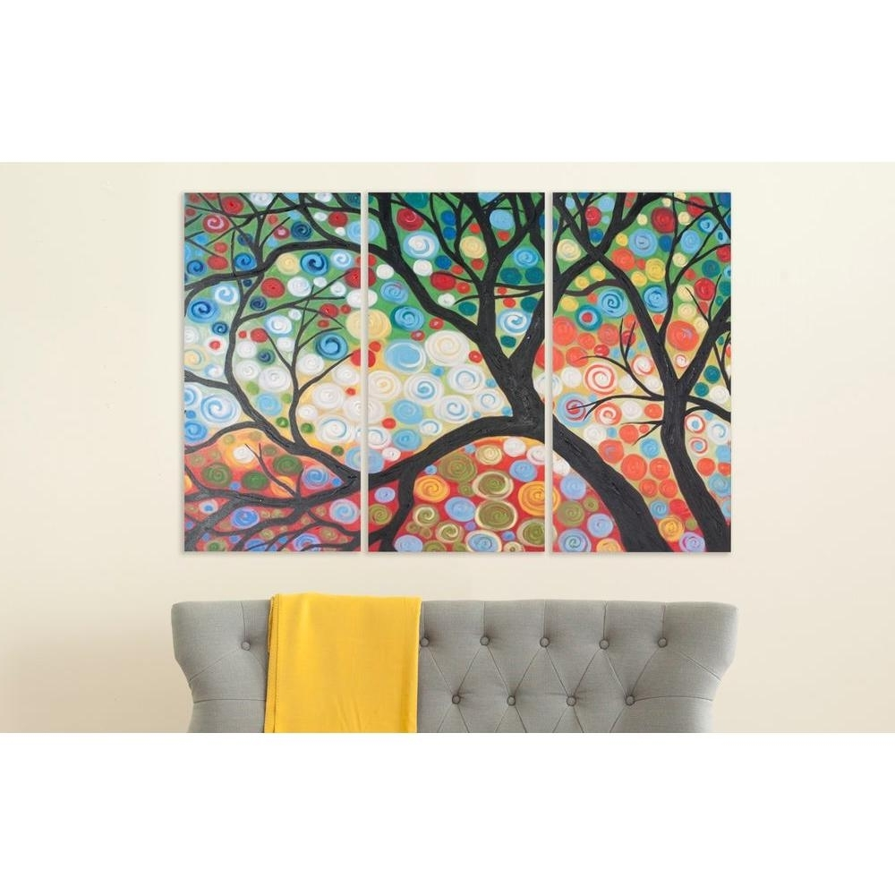 Cherry Blossom Wall Art Intended For Popular Safavieh 36 In. X 18 In (View 4 of 15)