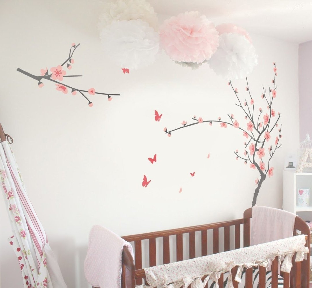 Cherry Blossom Wall Art Room : Andrews Living Arts – Very Attractive Inside Recent Cherry Blossom Wall Art (View 15 of 15)
