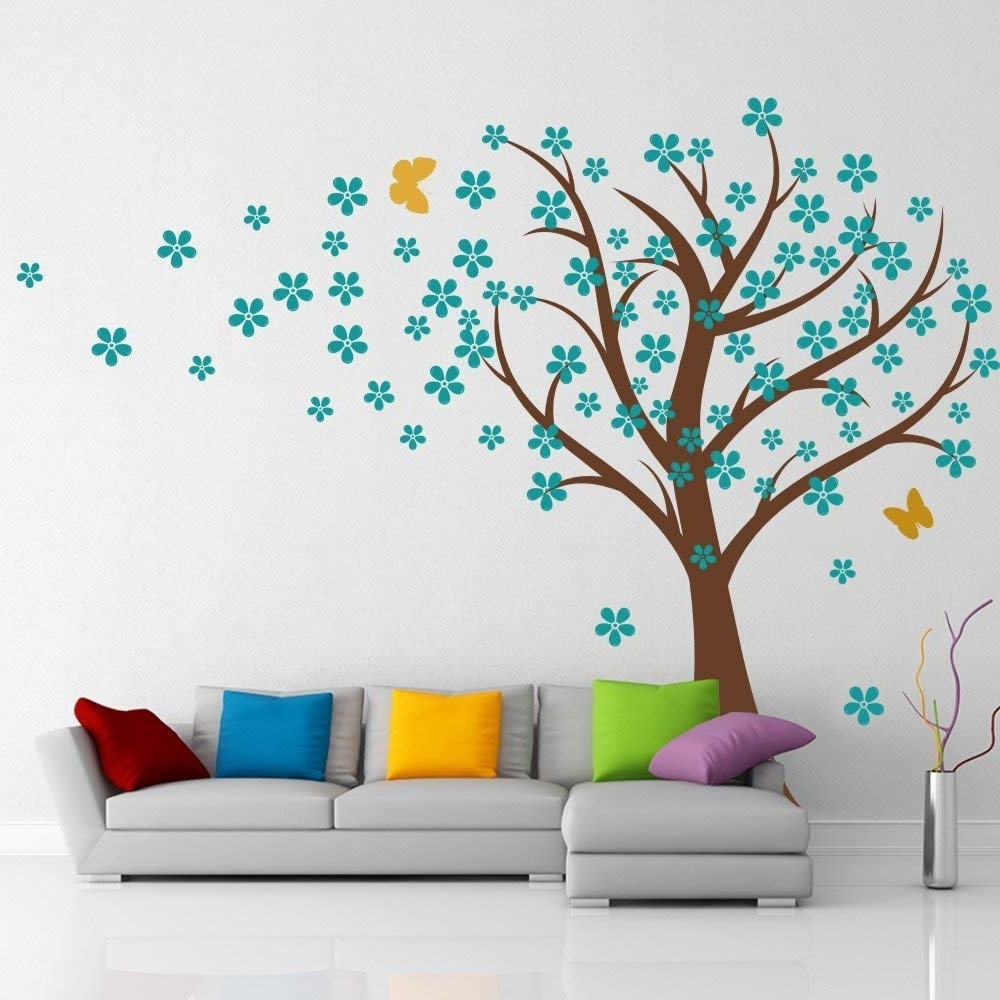 Cherry Blossom Wall Art Throughout Most Popular Amazon: Cherry Blossom Wall Decals Baby Nursery Tree Decals Kids (View 6 of 15)