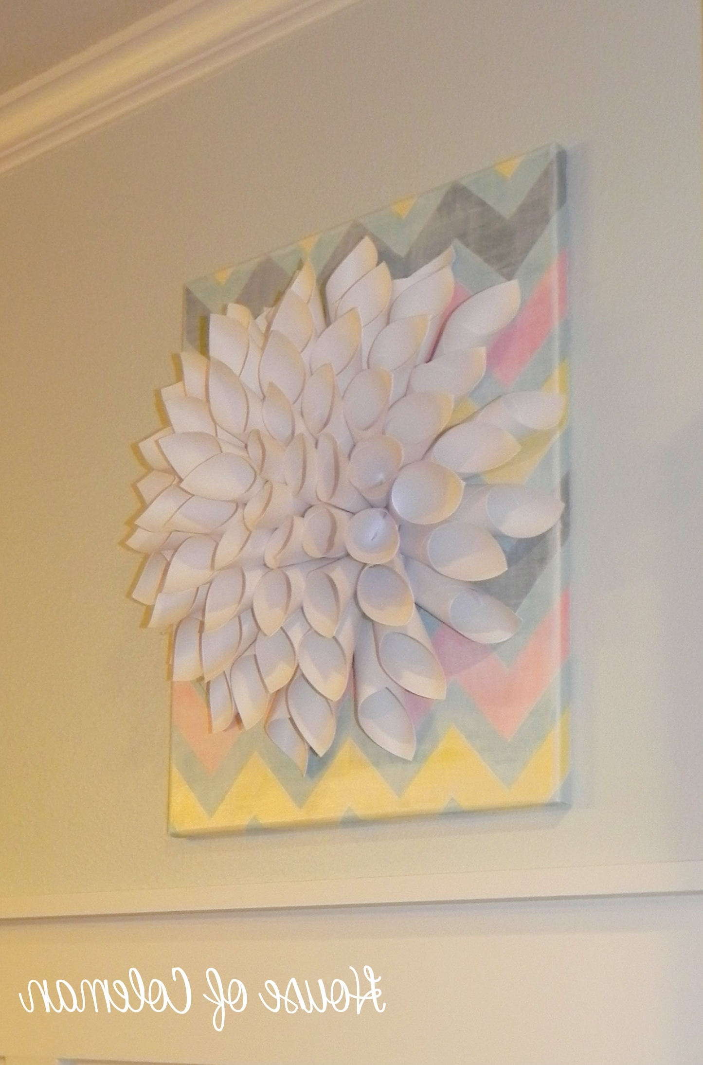Chevron Canvas Wall Art Diy (View 3 of 15)