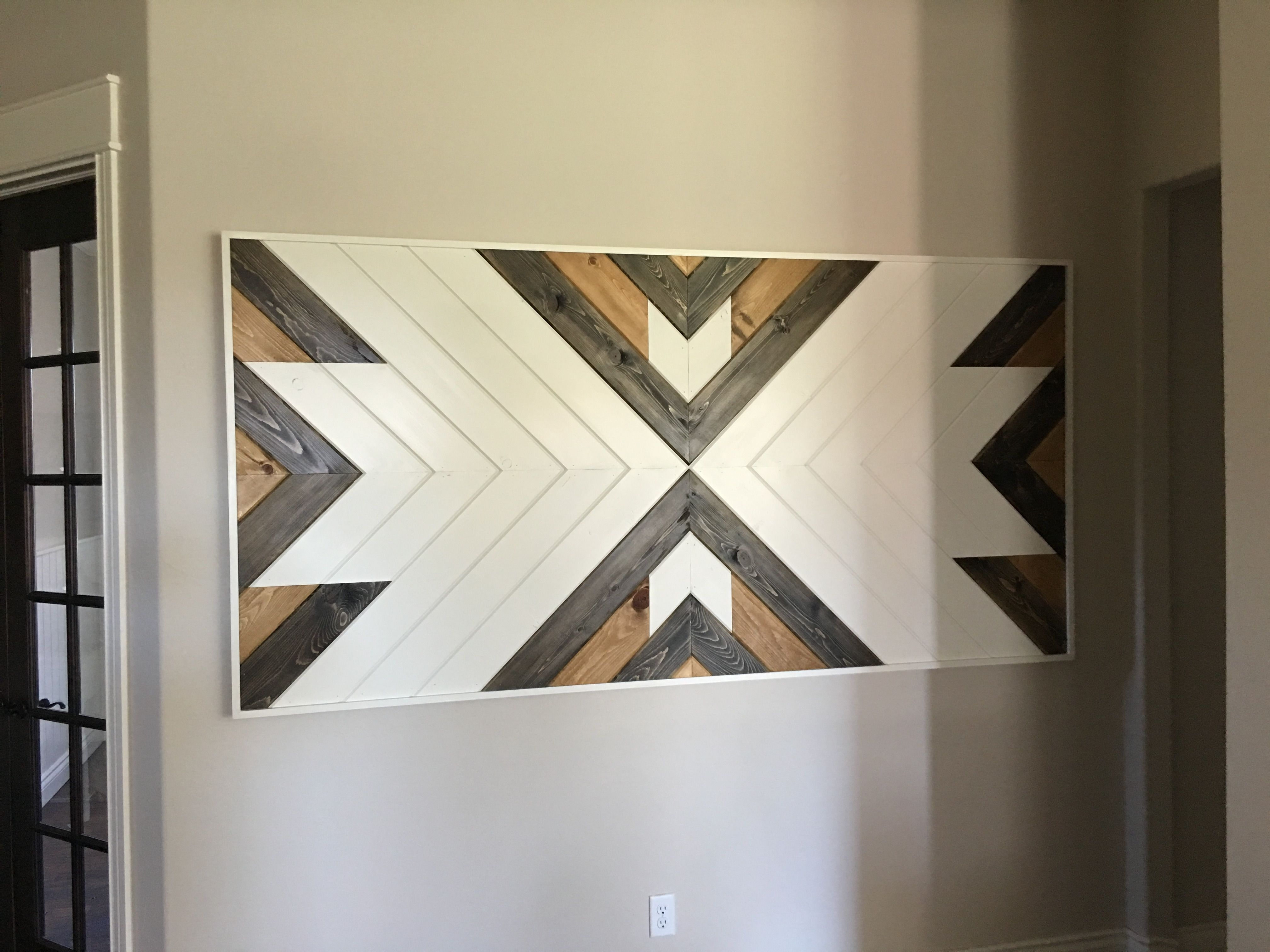Chevron Wall Art Made From V Groove (View 3 of 15)