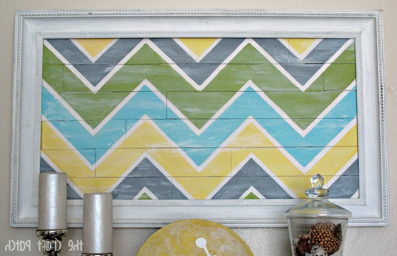 """Chevron Wall Art With Regard To Preferred Chevron """"pallet"""" Wall Art – Thecraftpatchblog (View 6 of 15)"""