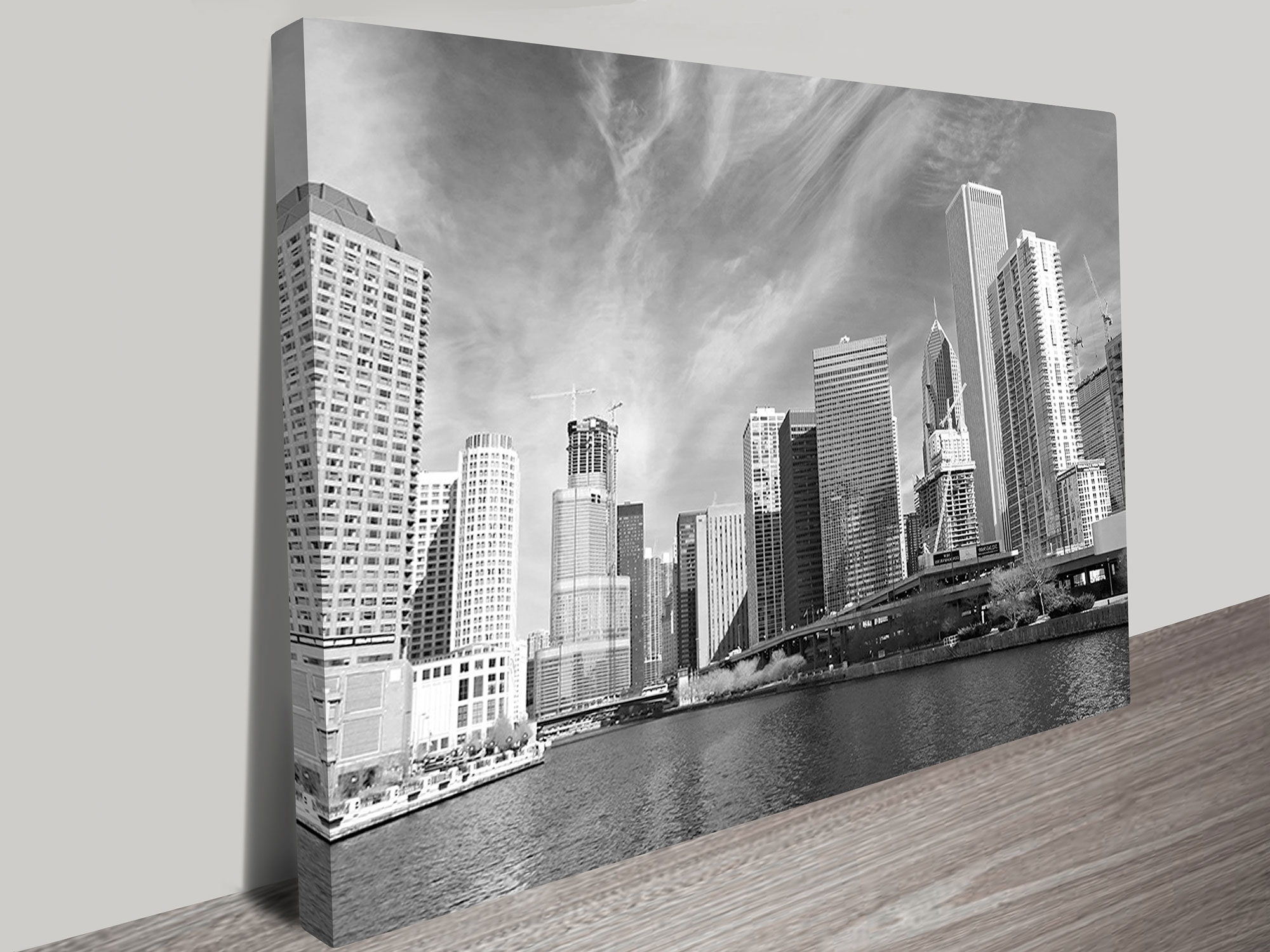 Chicago Black And White Wall Art Print Within Best And Newest Chicago Wall Art (View 2 of 15)