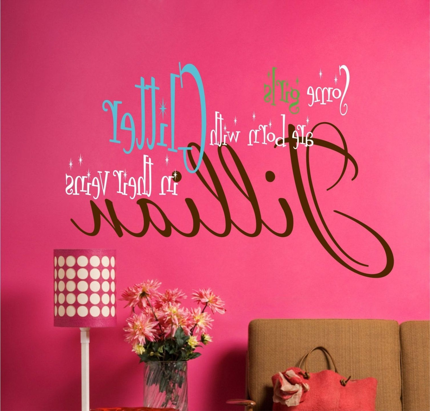 Children Wall Decals – Name Wall Decals – Girls Vinyl Wall Lettering With Regard To Most Recently Released Teen Wall Art (View 2 of 15)