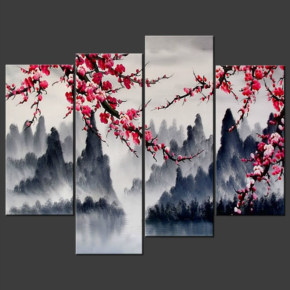 Chinese Wall Art Painting Simple Chinese Wall Art Combination Multi With Regard To 2018 Chinese Wall Art (View 3 of 15)