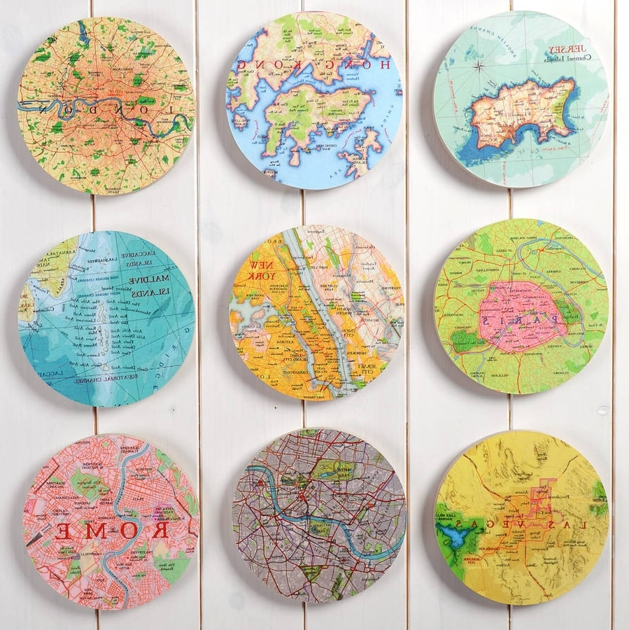 Circle Wall Art With Regard To 2017 Personalised Map Location 3D Circle Wall Artbombus (View 15 of 15)