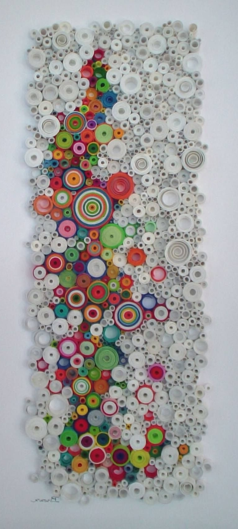 Circle Wall Art Within Most Recently Released Modern Wall Art, Circular Wall Art, Original 3 Dimensional Paper (View 6 of 15)