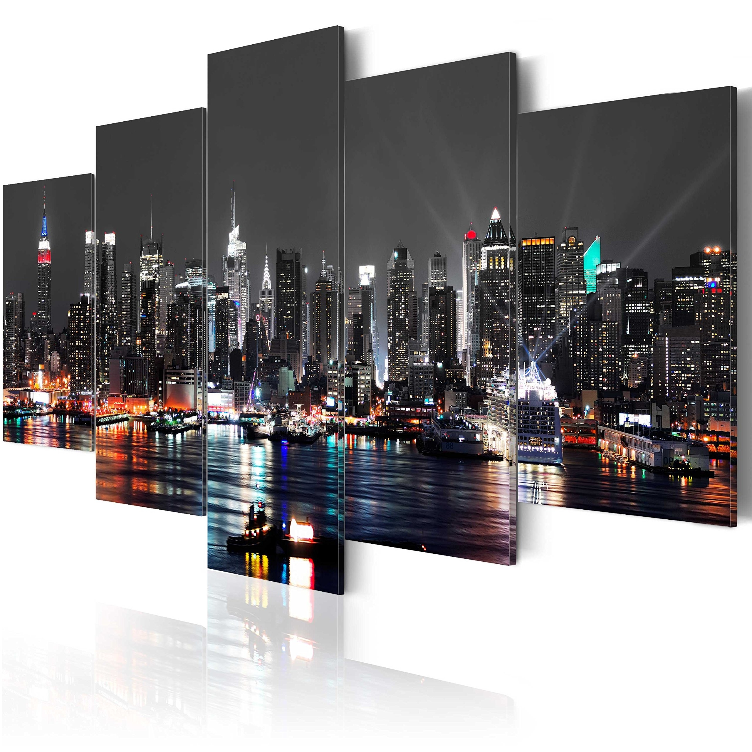 City Canvas Art Print: Amazon.co (View 3 of 15)