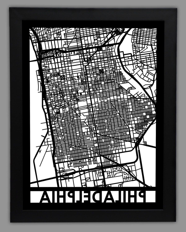 City Wall Art Regarding Favorite Philadelphia Map Wall Art (View 2 of 15)