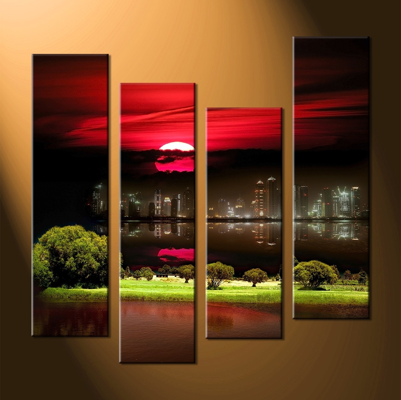 Classy Red Abstract Flower Original Abstract Painting X Inside Newest Large Canvas Wall Art (View 4 of 15)