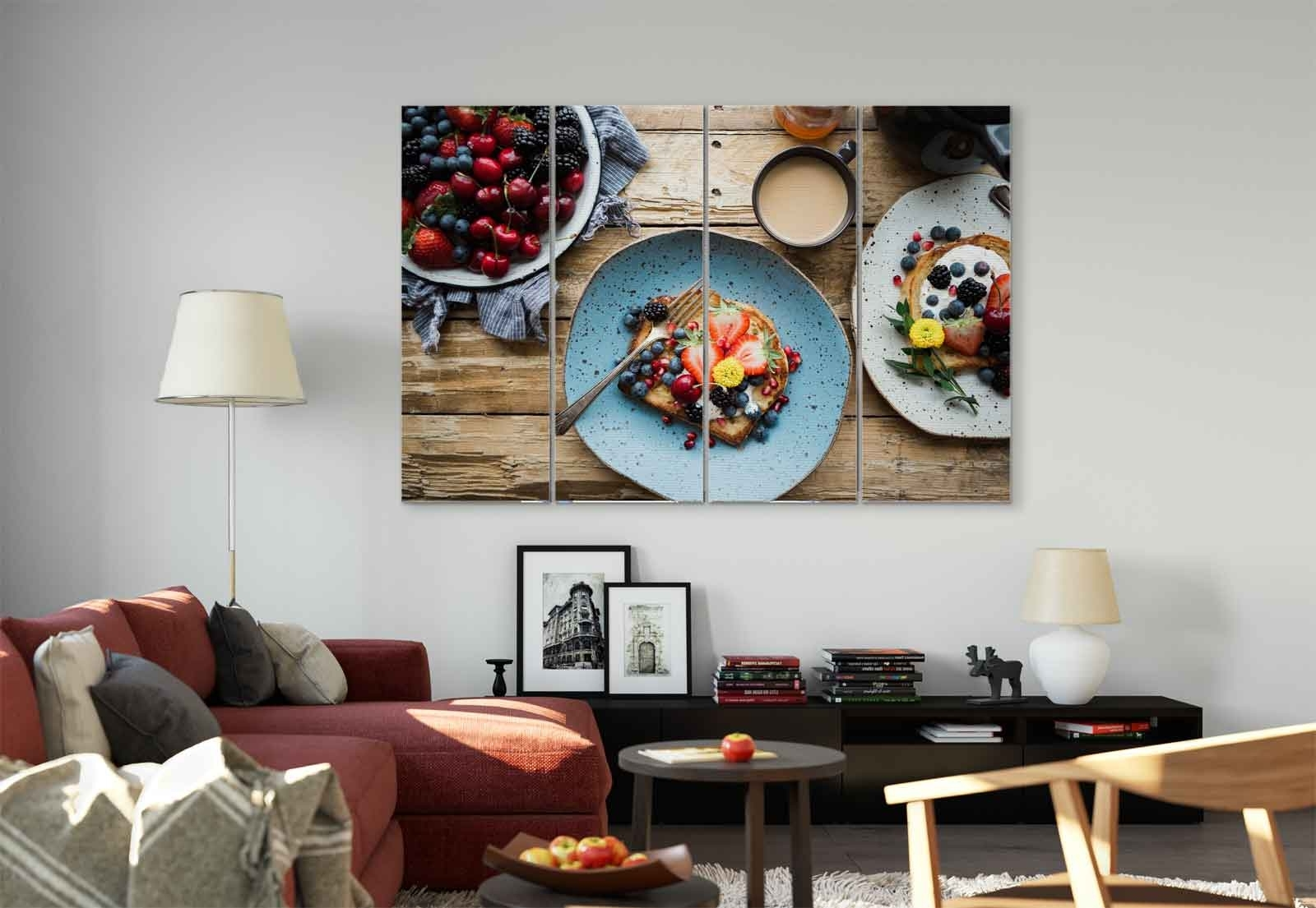 Coffee Wall Art In Widely Used Breakfast Berries Toast Coffee Canvas & Glass Wall Art Pictures (Fw (View 5 of 15)