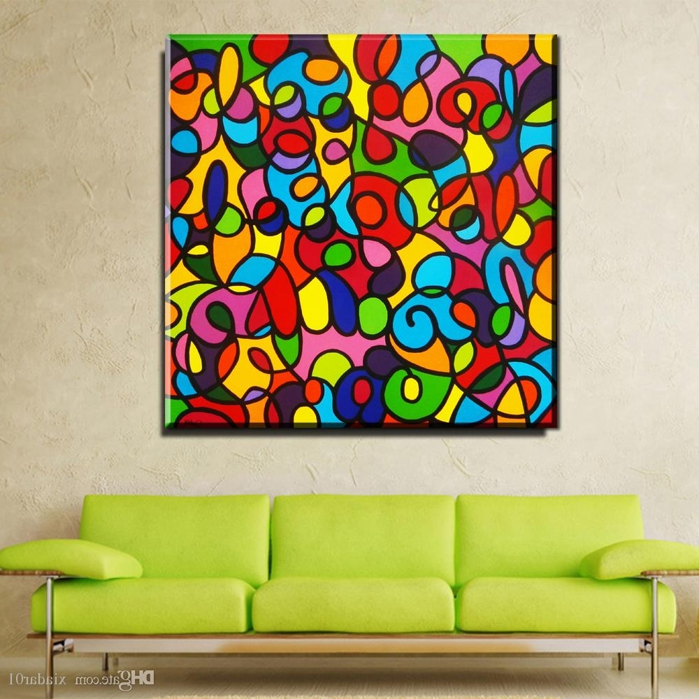 Colorful Wall Art In 2018 2018 Zz1002 Modern Canvas Art Colorful Canvas Pictures Abstract Oil (View 5 of 15)