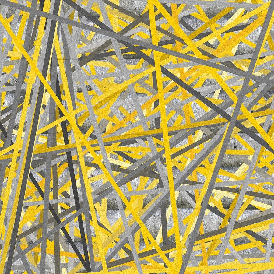 Connection - Yellow And Gray Wall Art Paintinglourry Legarde inside 2017 Yellow And Gray Wall Art