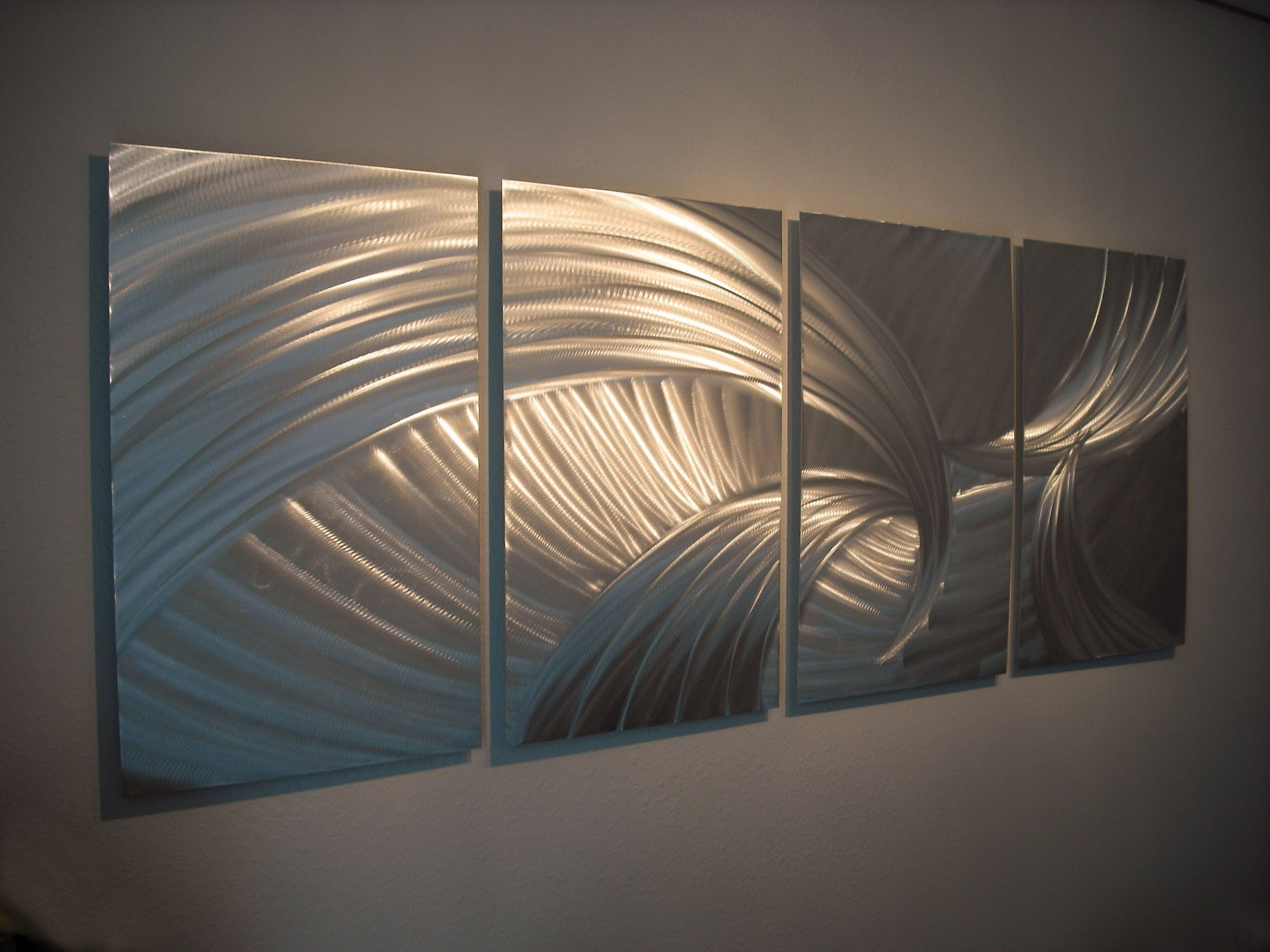 Contemporary Metal Wall Art In Latest Metal Wall Art, Modern Home Decor, Abstract Wall Sculpture (View 3 of 15)
