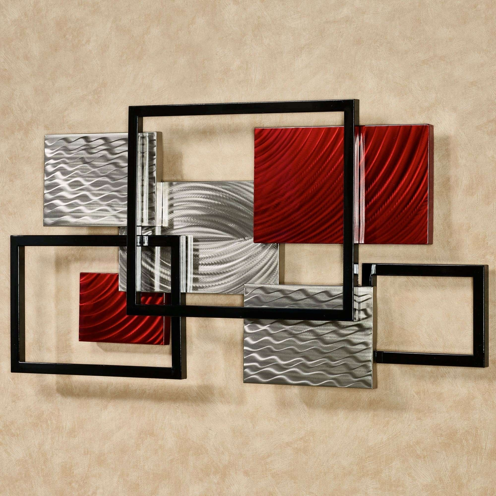 Contemporary Metal Wall Art Pertaining To Preferred Abstract Metal Wall Art Sculpture Contemporary Metal Wall Art (View 4 of 15)
