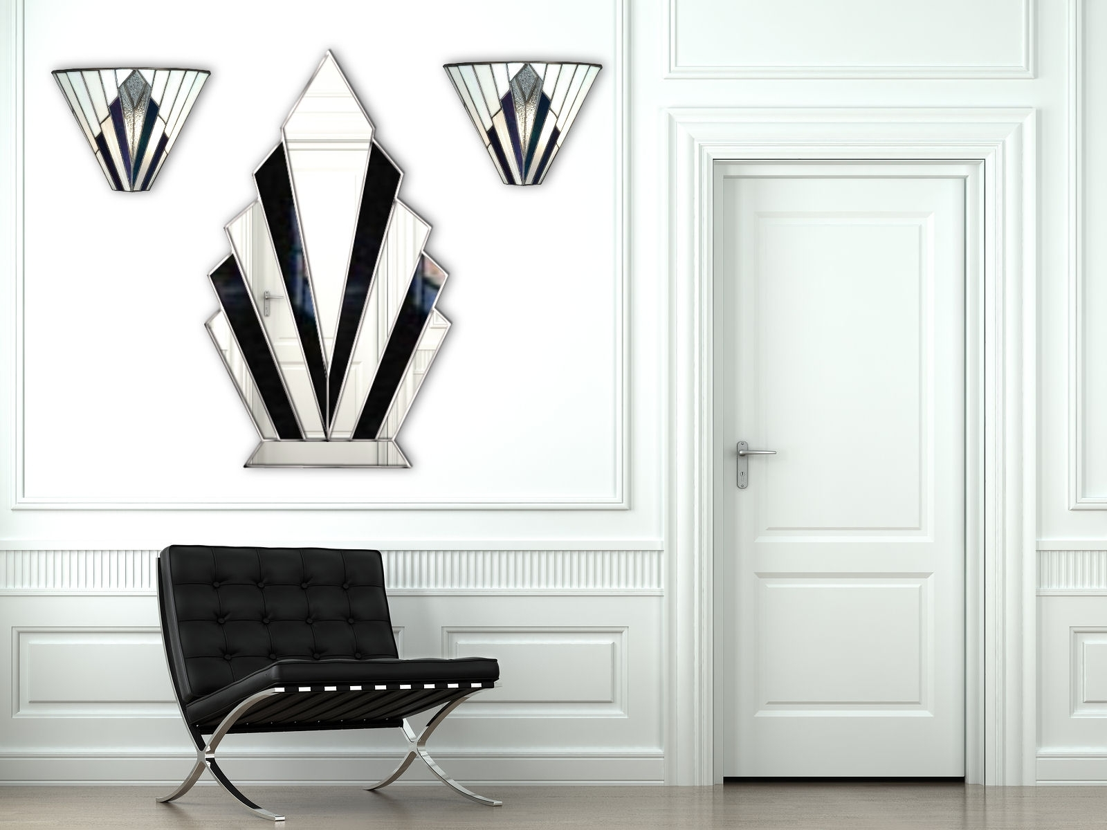 Cool Art Deco Wall Mirror : Andrews Living Arts – Always Pretty Art Inside Well Known Art Deco Wall Art (View 7 of 15)