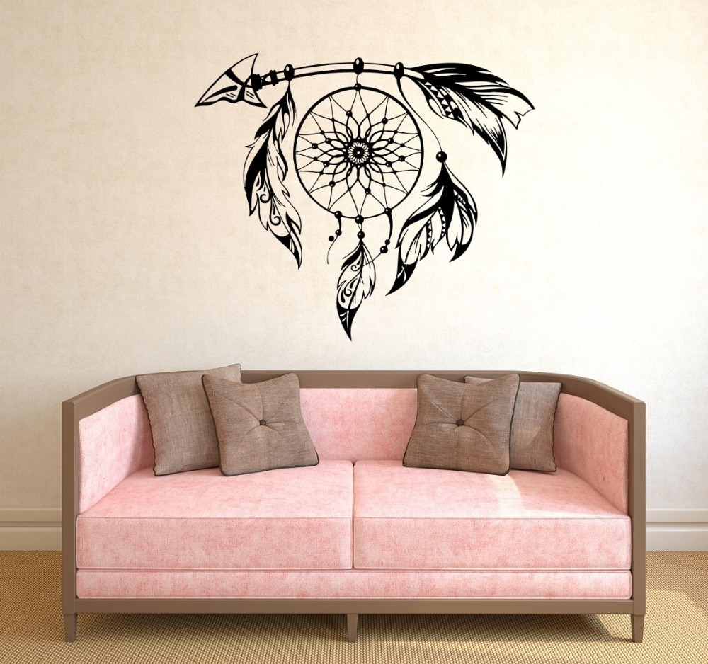 Cool Wall Art Inside Trendy Hot Selling Special Wall Stickers Dream Catcher Art Designed Cool (View 8 of 15)