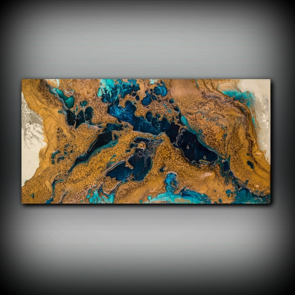 Copper Wall Art For Latest Giclee Abstract Fine Art Print From Original Acrylic Abstract (View 3 of 15)