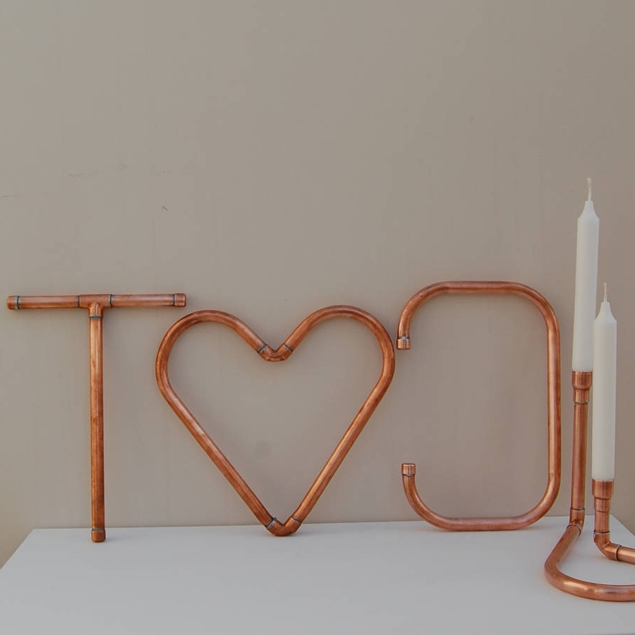Copper Wall Art Within Fashionable Copper Decorative Letters And Symbols Wall Artcopper & Hall (View 10 of 15)