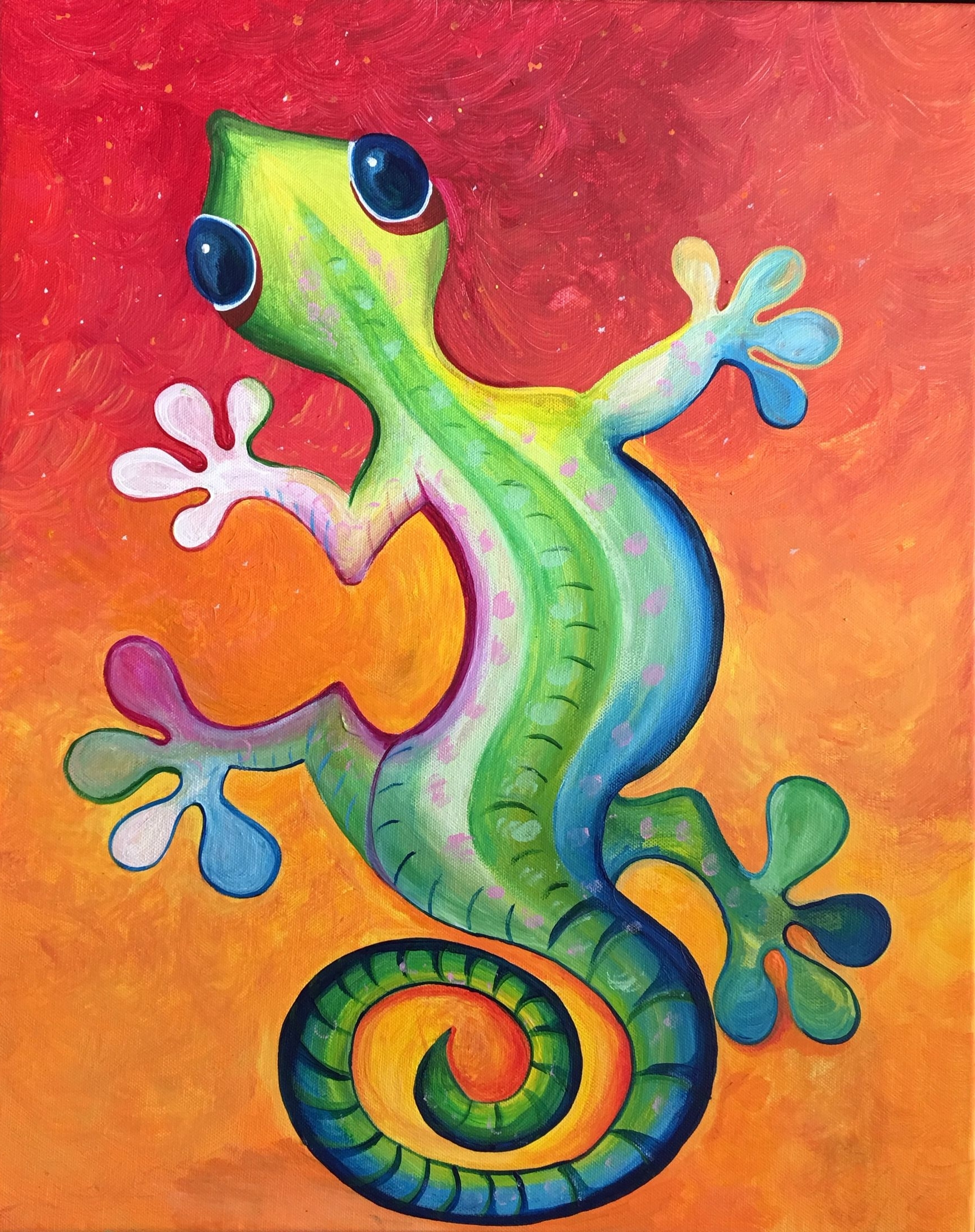 Copy Cat And Other Work Of Mine Pertaining To Gecko Canvas Wall Art (View 8 of 15)