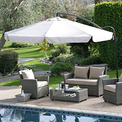 Coral Coast Offset Patio Umbrellas For Preferred Amazon : Coral Coast 11 Ft (View 3 of 15)