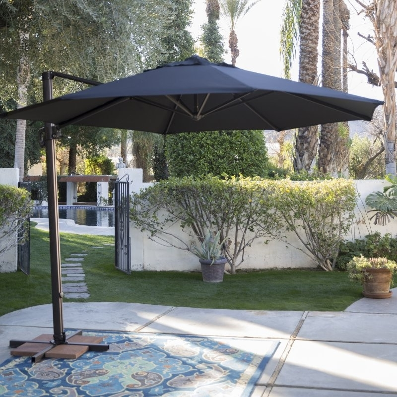 Coral Coast Offset Patio Umbrellas With Best And Newest Patio Offset Umbrellas Lovely 7 5 Ft Patio Umbrella For Garden Tilt (View 12 of 15)