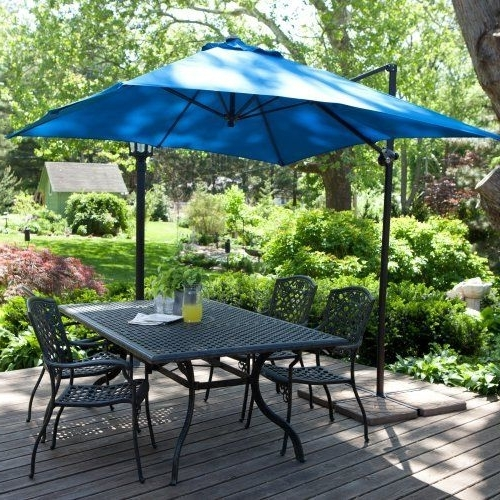 Coral Coast Offset Patio Umbrellas With Most Up To Date Coral Coast 8 Ft (View 4 of 15)