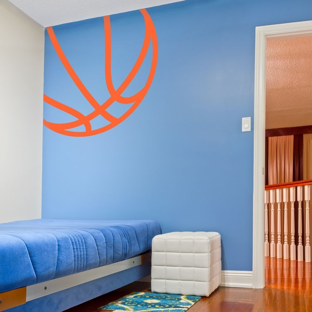 Corner Basketball Wall Art Decal (View 3 of 15)
