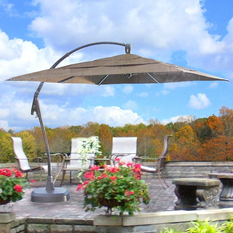 Costco Patio Umbrellas In Most Popular Good Costco Patio Umbrellas For Patio Tent 31 Costco 11 Cantilever (View 9 of 15)