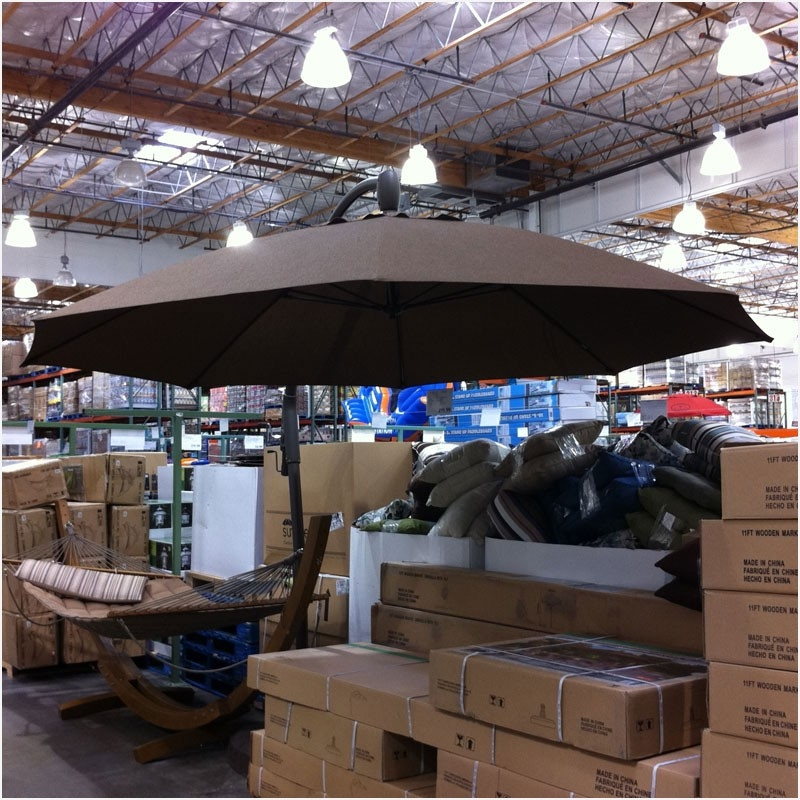 Costco Patio Umbrellas Regarding Well Known Offset Patio Umbrella Costco » Unique Patio Patio Umbrellas Costco (View 5 of 15)