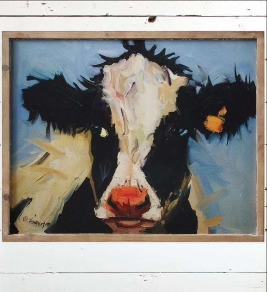 Cow On Canvas! Beautiful Framed Wall Art – Your Modern Farmhouse Inside Best And Newest Cow Canvas Wall Art (View 6 of 15)