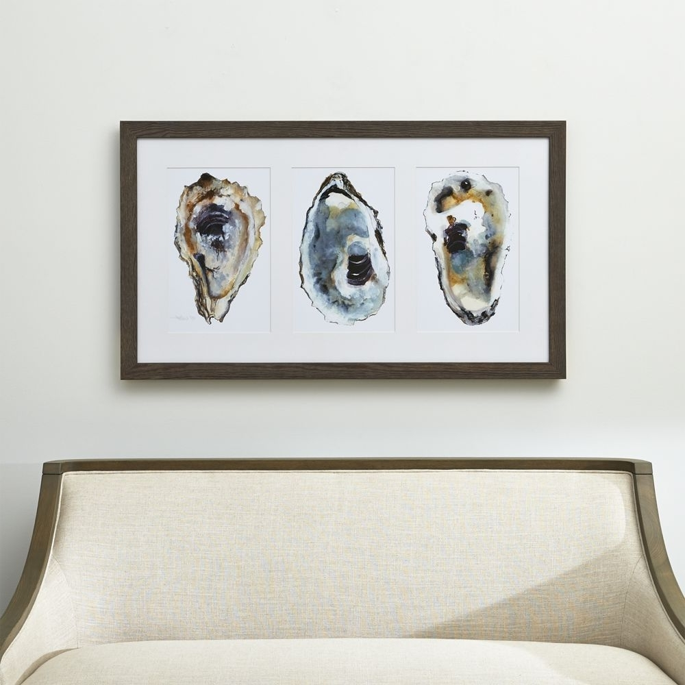 Crate And Barrel Wall Art Inside Latest Oyster Shimmer Print (View 9 of 15)