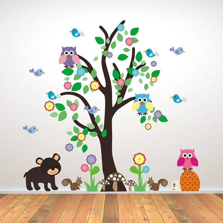 Creative Kids Room Wall Decals (View 2 of 15)