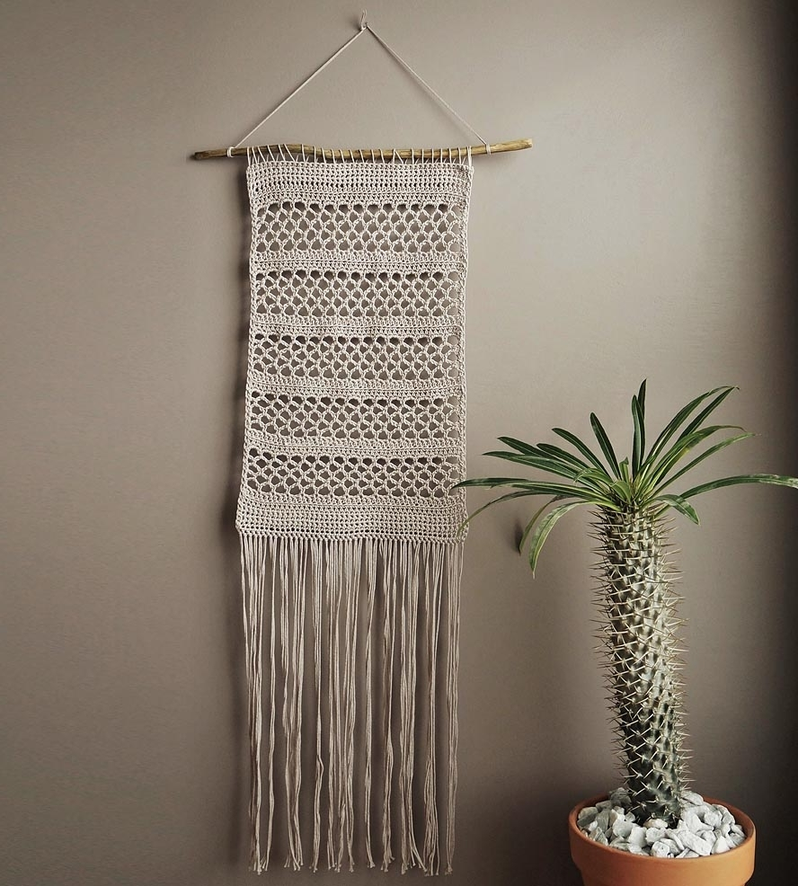 Crochet Wall Art Intended For Most Recent Crochet Patterns Wall Hangings ~ Pakbit For  (View 4 of 15)