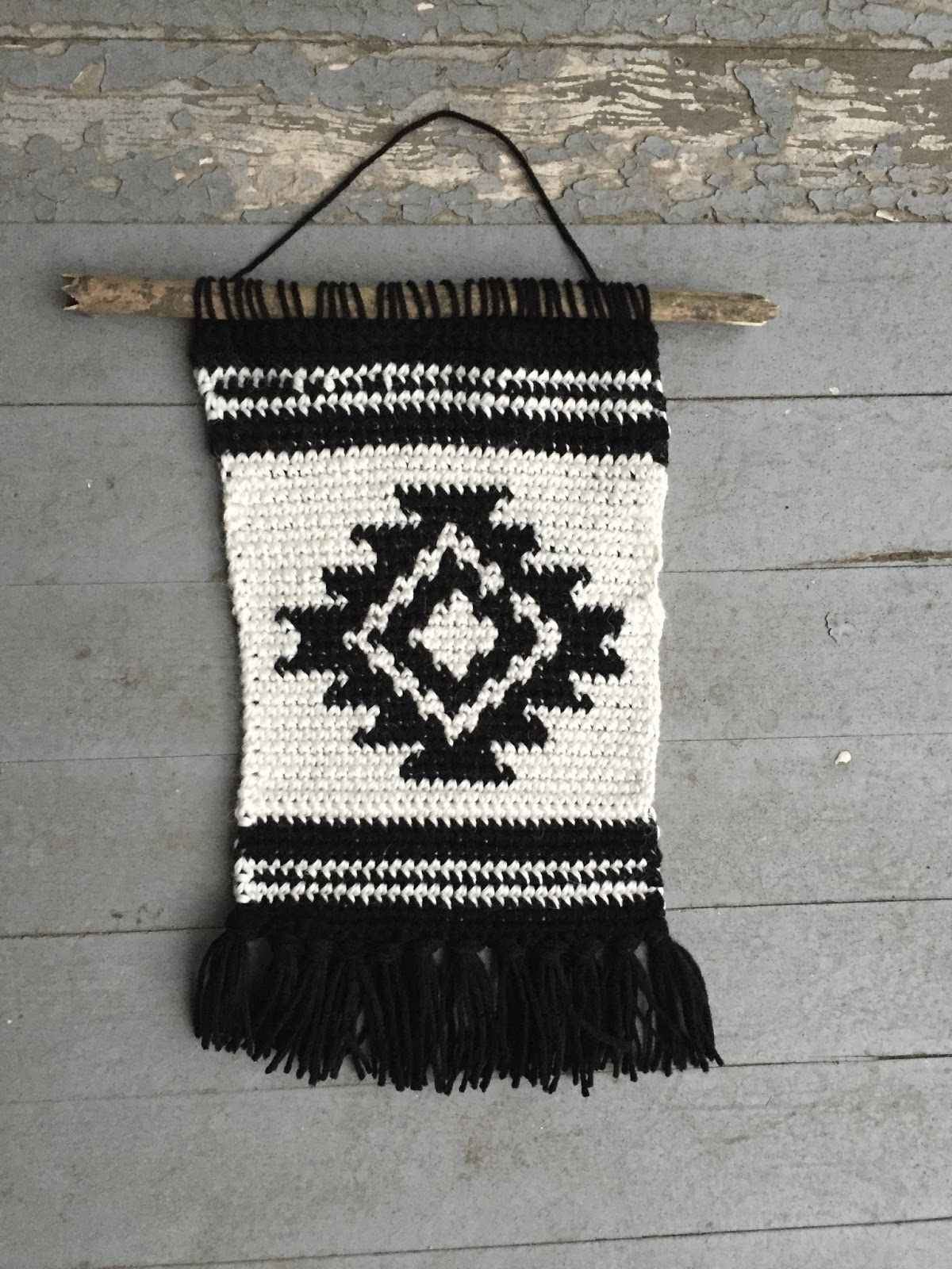 Crochet Wall Art Regarding Well Known Shirley And Eadie: Crochet Wall Hanging Tutorial (View 11 of 15)
