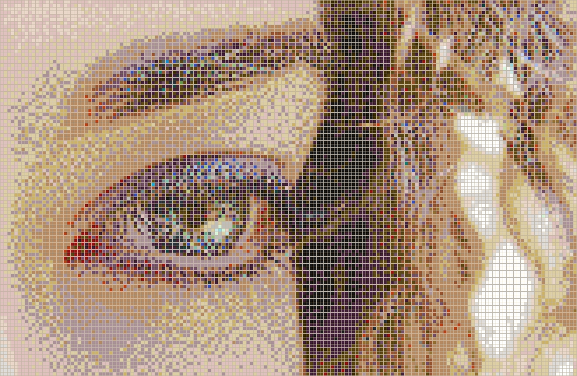 Curly Eye (Alice) – Framed Mosaic Wall Art Within Trendy Mosaic Wall Art (View 6 of 15)